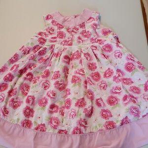 Beautiful pink rosette girls dress
